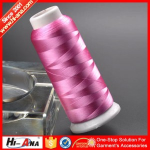 100% rayon embroidery thread 250D2 80G
