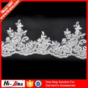 embroidery beaded lace motif ha-2004-0071 10CM