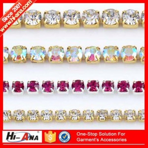 colour rhinestone cup chain