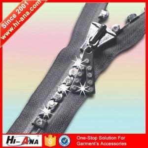 rhinestone zipper
