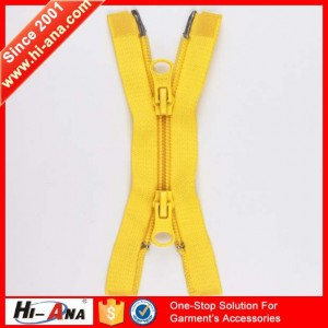 double-sided zipper for jackets
