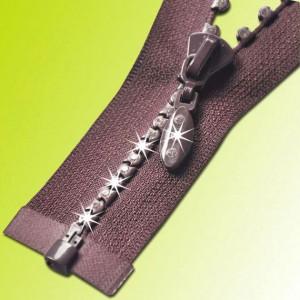 metal rhinestone zipper