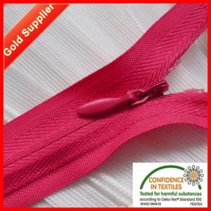 invisible zipper with fabric tape ha-0201-0127
