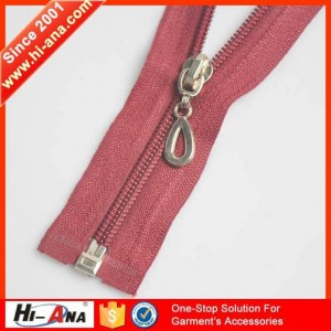 nylon reversible zipper ha-0201-0074