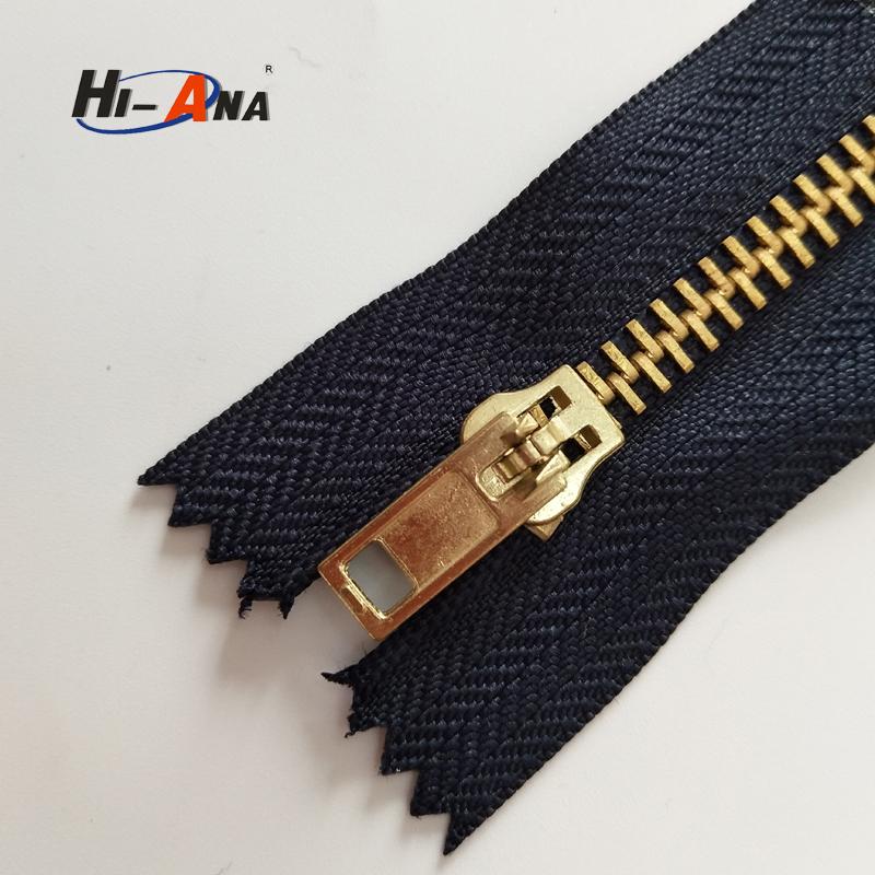 hi-ana custom design low price gold teeth copper automatic zipper